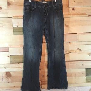 Mossimo Supply Co. wide leg, lowest denim jeans